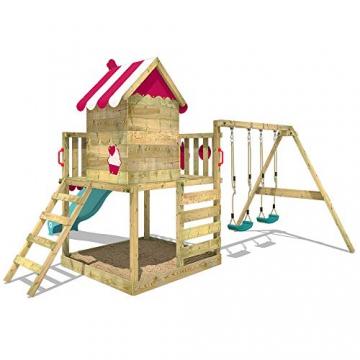 WICKEY Spielturm Baumhaus Smart Candy Stelzenhaus Klettergerüst Schaukel Rutsche - 4