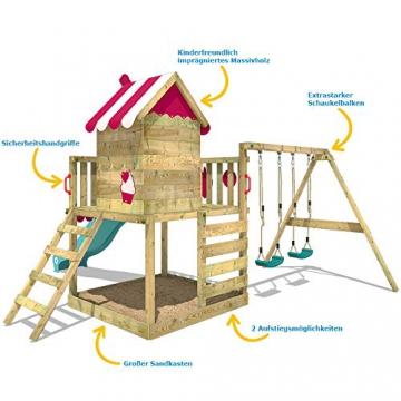 WICKEY Spielturm Baumhaus Smart Candy Stelzenhaus Klettergerüst Schaukel Rutsche - 5