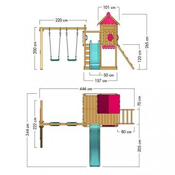 WICKEY Spielturm Baumhaus Smart Candy Stelzenhaus Klettergerüst Schaukel Rutsche - 7