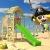 WICKEY Spielturm Klettergerüst MultiFlyer HD mit Schaukel & apfelgrüner Rutsche, Kletterturm mit Holzdach, Sandkasten, Leiter & Spiel-Zubehör - 7