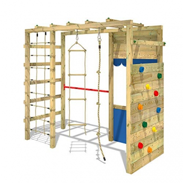 WICKEY Spielturm Klettergerüst Smart Action Kinder Turngerüst Holz Kletterturm - 4
