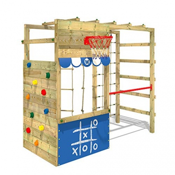WICKEY Spielturm Klettergerüst Smart Action Kinder Turngerüst Holz Kletterturm - 1