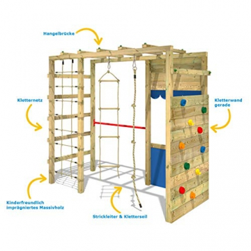WICKEY Spielturm Klettergerüst Smart Action Kinder Turngerüst Holz Kletterturm - 5