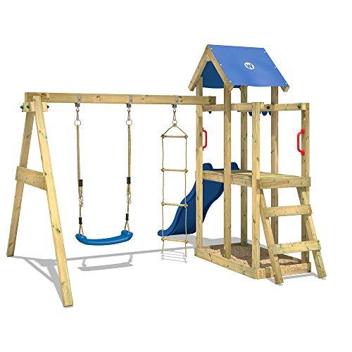WICKEY Spielturm Klettergerüst TinyPlace Kletterturm Spielplatz mit Schaukel und Rutsche, Sandkasten und Strickleiter - 2