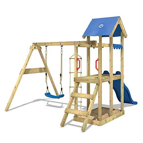 WICKEY Spielturm Klettergerüst TinyPlace Kletterturm Spielplatz mit Schaukel und Rutsche, Sandkasten und Strickleiter - 3