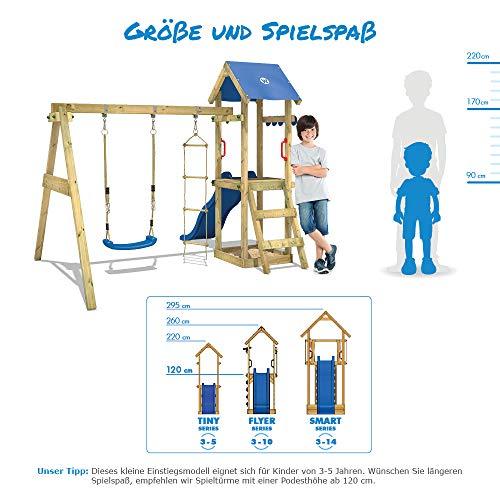 WICKEY Spielturm Klettergerüst TinyPlace Kletterturm Spielplatz mit Schaukel und Rutsche, Sandkasten und Strickleiter - 5