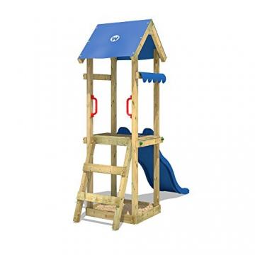 WICKEY Spielturm mit Rutsche TinySpot Kletterturm Klettergerüst mit Sandkasten und Kletterleiter - 2