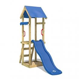 WICKEY Spielturm mit Rutsche TinySpot Kletterturm Klettergerüst mit Sandkasten und Kletterleiter - 1