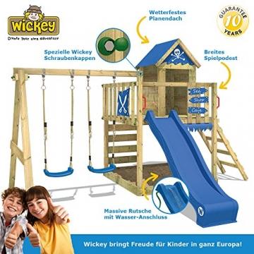 WICKEY Spielturm Smart Cave Kletterturm Spielhaus auf Podest mit Schaukel und Rutsche, großem Sandkasten, Kletterwand und Kletterleiter - 8