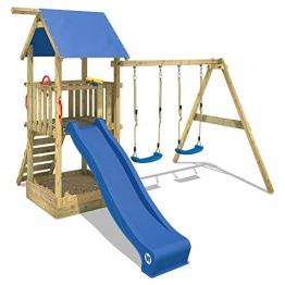 WICKEY Spielturm Smart Echo Spielplatz Kletterturm mit Sandkasten, Doppelschaukel und Rutsche - 1