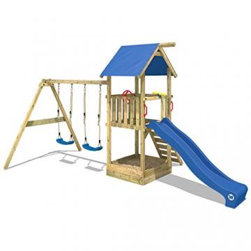 WICKEY Spielturm Smart Echo Spielplatz Kletterturm mit Sandkasten, Doppelschaukel und Rutsche - 4