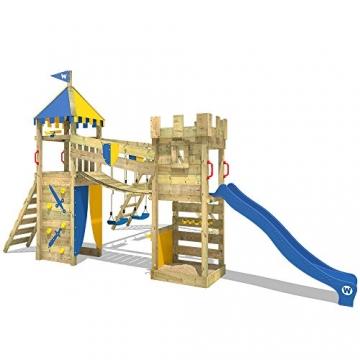 WICKEY Spielturm Smart Legend 120 Kletterturm Spielplatz Ritterburg mit Schaukel und Rutsche, Sandkasten, Kletteranbau und Wackelbrücke - 2