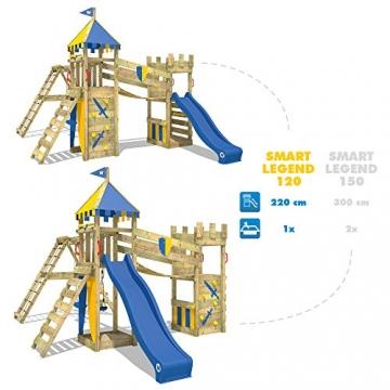 WICKEY Spielturm Smart Legend 120 Kletterturm Spielplatz Ritterburg mit Schaukel und Rutsche, Sandkasten, Kletteranbau und Wackelbrücke - 7