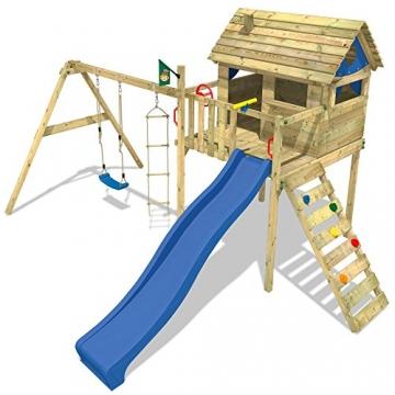 Wickey spielturm smart plaza stelzenhaus rutsche schaukel for Gartenpool mit rutsche