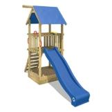 WICKEY Spielturm Smart Tale Spielhaus Kletterturm mit Rutsche, Sandkasten und Kletterleiter, blau - 1