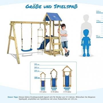WICKEY Spielturm TinyCabin Kletterturm Spielplatz mit Schaukel und Rutsche, Sandkasten und Strickleiter - 4